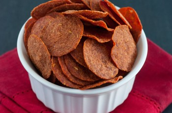 Chips de Salame Pepperoni No Microondas